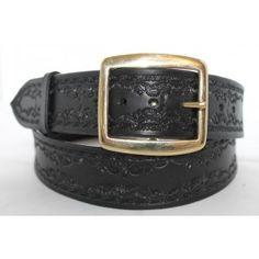 "1.75"" Black Tooled Belt West Cork, Tool Belt, Belts, Purses, Wallet, Leather, Handmade, Accessories, Shopping"