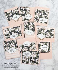 One Sheet Wonder Card Set with Magnolia Lane DSP - Mackenzie Makes One Sheet Wonder, Scrapbooking, Magnolia Stamps, Card Patterns, Card Tutorials, Card Sketches, Paper Cards, Stamping Up, Flower Cards