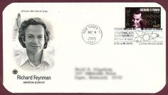 Feynman first day cover Richard Feynman, First Day Covers, Fine Men