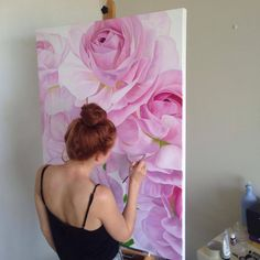 Peony Painting, 3d Painting, Large Wall Canvas, Abstract Painting Techniques, The Other Art Fair, Arte Popular, Creative Inspiration, Flower Art, Flower Power