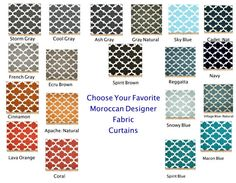 One Pair 30 Colors Choices Moroccan Trellis by FrostingHomeDecor