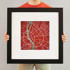Budapest, Hungary | City Prints Map Art