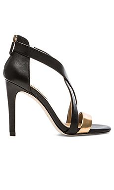 BCBGMAXAZRIA Rainn Heel in Gold & Black