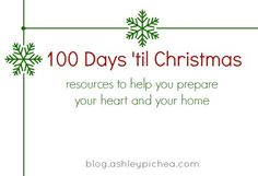 ONLY 100 Days Until Christmas!!