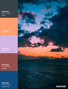 Palettes / Color : No. 19 Sunset Color Palette, Sunset Colors, House Ideas, Branding, Abstract Art, Pallets, Pintura, Colors, Brand Management