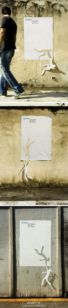 """Help yourself"" CVV campaign.  See more about unique categories on www.piafawards.com.   #ad #advertising #poster"