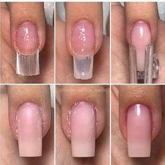 Vire especialista em unha de vibra de vidro agora mesmo e comece a faturar muito! Corra e saia na frente dos s… Acrylic Nail Shapes, Best Acrylic Nails, Polygel Nails, Diy Nails, Nail Art Hacks, Privates Nagelstudio, Nail Extensions Acrylic, Overlay Nails, Fiberglass Nails