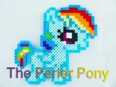 My Little Pony Silly Filly Perler Ponies: Rainbow Dash