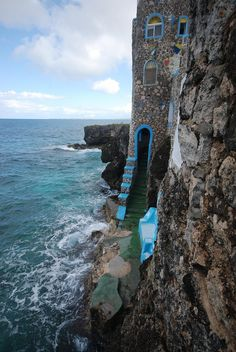 Blue Cave Castle, Negril, Jamaica - passed many times but never visited! :( #Negril