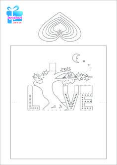 Love tree 3D Pop-Up Card/ kirigami pattern