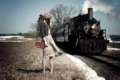 Photoshoot with a Train.. vintage vibe and all :)