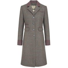 Women's Dubarry Blackthorn Coat ($453) ❤ liked on Polyvore featuring outerwear, coats, tweed wool coat, brown tweed coat, dubarry, tweed coats and brown coat