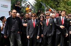 Ayrton Senna tribute 2014:Berger,Alonso and Raikkonen