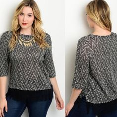 Chevron Fringe Top, Plus Size Tops, Women's Online Clothing Boutique, Shirts for Ladies