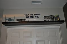 Another Star Wars room. Used this idea for Miles room. - Star Wars Models - Ideas of Star Wars Models - Another Star Wars room. Used this idea for Miles room. Star Wars Bedroom, E Room, Star Wars Decor, Boys Bedroom Decor, Bedroom Ideas, Star Wars Models, Room Themes, Room Inspiration, New Homes