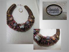 Beaded Horseshoe ArtChocolate Dreams by JeweledByDesign on Etsy, $20.00