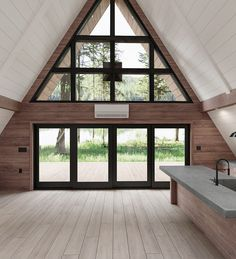 Ayfraym: Modern, Portable A-Frame Cabin Version of Classic Vacation Home in The Maison Transportable, A Frame Cabin Plans, A Frame Floor Plans, Tiny Cabin Plans, Cabin House Plans, Plan Chalet, Diy Cabin, Small Cabin Decor, Cabin Homes