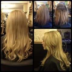 Balmainized! Amazing extension work by Jacob James. Jacob created length and volume using DoubleHair by Balmain Hair!