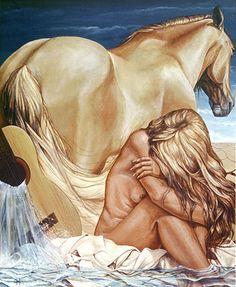 Canción triste by Chelin Sanjuan. Acrylic on canvas