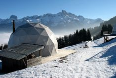 Whitepod Hotel in the Swiss Alps - sleeping in canvas tents, overlooking Lake Geneva (eco winter glamping).