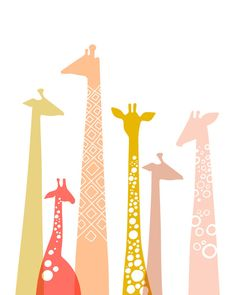 Hey, I found this really awesome Etsy listing at https://www.etsy.com/listing/180700372/8x10-modern-giraffe-silhouettes-giclee