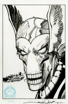 marvel1980s:  Beta Ray Billsketch by Walt Simonson for a Hero Initiative Excelsior membership