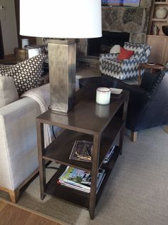 Pair of side tables at Martis camp