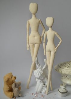 Blank Doll BODY is 14 inches (35.5 cm) tall . Fabric doll body is made of white cotton and linen and it is filled with hypo-allergenic polyester fiberfill. These pre-made doll bodies are perfect if you wish to make the art doll but dont have the time to make the body. The blank doll