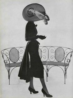 Vintage Fashion Christian Dior 1949 - Thanks, everyone, for the warm welcome back, this being my second time around. my love for vintage fashion and some and everything related, still remains just this side of. Vintage Fashion 1950s, Vintage Dior, Mode Vintage, Vintage Black, Vintage Dresses, Vintage Ladies, Vintage Outfits, Vintage Hats, Victorian Fashion