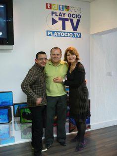 En el PhotoCall con Pablo Díaz (director de PlayOcioTV)