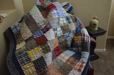 Quilt UpCycle RePurpose ReUse GREEN Men's by BarnRedQuiltworks