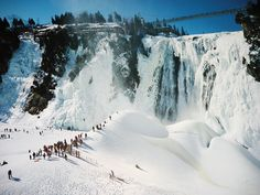 Montmorency Falls. About a 10 minute drive from Quebec City, Canada.