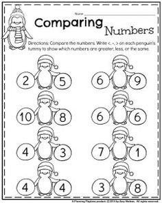 Greater than less than equal to worksheets and stations