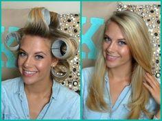 Voluminous Hair Using Velcro Rollers