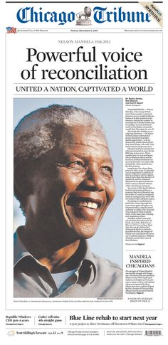 Some Of The Beautiful Front Pages Remembering Nelson Mandela