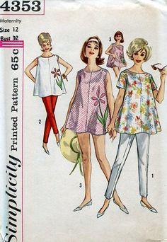 FREE US SHIP Original Uncut Maternity Wardrobe Blouse Top Pants Bloomer Panties…