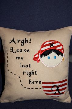 Pirate Themed Tooth Fairy Pillow