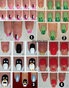 Nail Art Designs In Every Color And Style – Your Beautiful Nails Cute Nail Art, Nail Art Diy, Easy Nail Art, Diy Nails, Cute Nails, How To Nail Art, Diy Art, Manicure Ideas, Diy Manicure