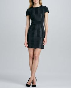 Textured Faux-Leather Sheath Dress by Ali Ro at Neiman Marcus.