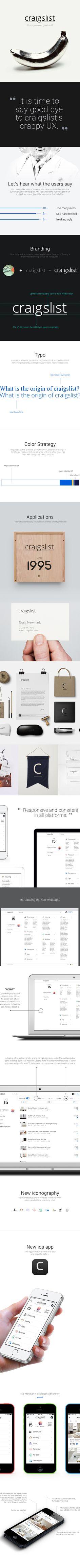 Craigslist Redesign on Behance