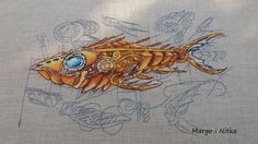 Ryba z serii Steampunk, wzór Jane Eyre (Яна Минасян),