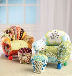 Ellie Mae Pin Cushions, K0180 http://kwiksew.mccall.com/k0180-products-48911.php?page_id=3013 #kwiksewpatterns