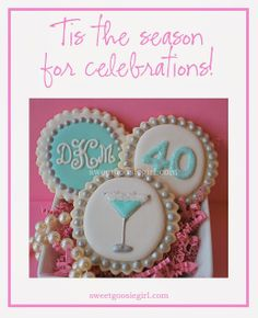 Items similar to Tiffany Blue Martini, Age & Monogram Decorated Sugar Cookies on Etsy 40th Birthday Ideas For Girls, 40th Party Ideas, Dad Birthday Cakes, 40th Birthday Decorations, Birthday Cookies, Birthday Parties, 40 Birthday, Iced Cookies, Royal Icing Cookies