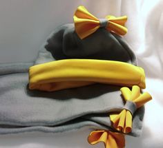 Fleece Hat and Scarf Set for Infant Toddler and Girls by BabyHatIsland, $24.00