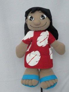 boneca de pano lilo ( lilo e stitch)