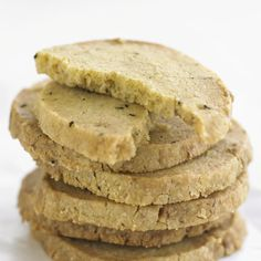Try our rosemary and walnut shortbread cookie recipe. This easy Scottish shortbread recipe is a great afternoon tea idea. The best shortbread cookies Best Shortbread Cookies, Shortbread Recipes, Cookie Flavors, Cookie Recipes, Dessert Recipes, Desserts, Biscuit Cookies, Biscuit Recipe, Kitchens