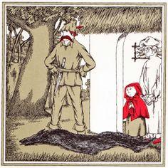 1992 Edward Gorey (American author/illustrator, ~ 'Edward Gorey Illustrates Little Red Riding Hood and Other Classic Children's Stories' Edward Gorey, Edward Lear, Tim Burton, Naive, Red Riding Hood Book, Hood Books, John Kenn, Psychedelic Drawings, Big Teeth