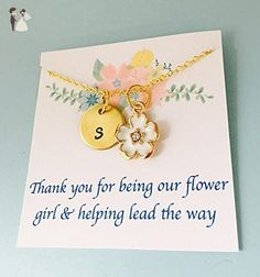 Will you be my Flower Girl - Personalized Jewelry - Wedding Necklace - Thank You Gift, - Wedding nacklaces (*Amazon Partner-Link)