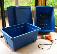 How to Compost in Your Apartment - Cut Holes in Container