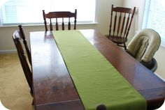 5 Minute No-Sew Table Runner